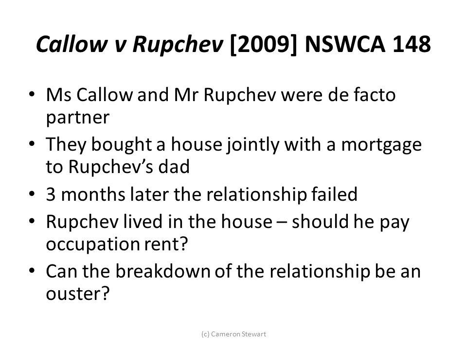 Callow v Rupchev [2009] NSWCA 148